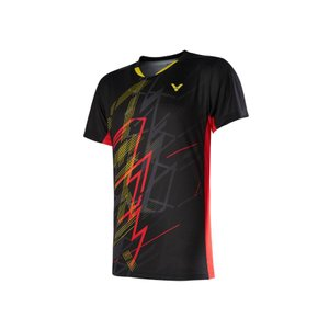 VICTOR T-00004 C(ブラック) / ビクター ゲームシャツ UNI 日本バドミントン協会検定合格品|netintm