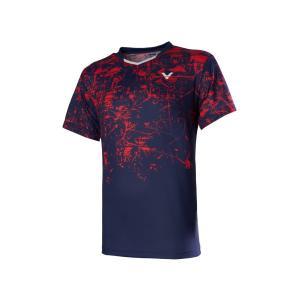 VICTOR T-00009 B(ネイビー) / ビクター ゲームシャツ UNI 日本バドミントン協会検定合格品|netintm
