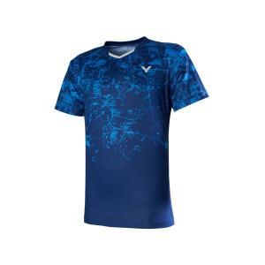 VICTOR T-00009 F(ロイヤルブルー) / ビクター ゲームシャツ UNI 日本バドミントン協会検定合格品|netintm