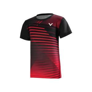 VICTOR T-02001TD C ブラック / ビクター ジュニア ゲームシャツ 日本バドミントン協会検定合格品|netintm