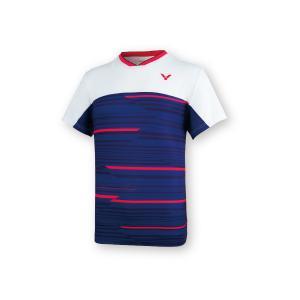 VICTOR T-05001 B/ネイビー ビクター ゲームシャツ UNI 日本バドミントン協会公認の商品画像|ナビ