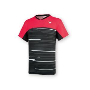 VICTOR T-05001 D/レッド ビクター ゲームシャツ UNI 日本バドミントン協会公認|netintm