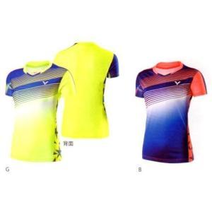 VICTOR(ビクター)T-71003 LADIES ゲームシャツ 日本バドミントン協会審査合格品|netintm