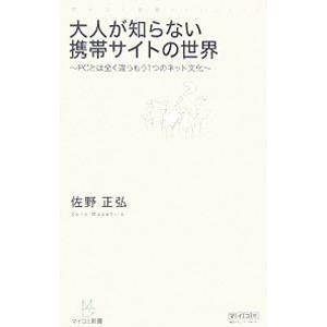 大人が知らない携帯サイトの世界/佐野正弘