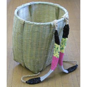 竹製ゴザ編 背負いかご (丸)|netonya