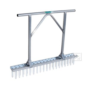 長ネギ定植用穴あけ器 ネギロケット 2条植タイプ(チドリ5cmピッチ) 標準A2列(39本)