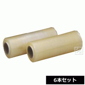 業務用ストレッチフィルム スーパーラップ H-350 (6本セット) オカモト (巾350mm×500m) ハンド用|netonya