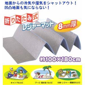 レジャーマット 折りたたみ式 グランドエイト U-P845 (1m×1.8m 厚さ:8mm)|netonya|03