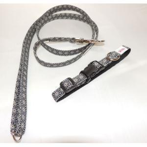 和柄麻の葉リード・ワンタッチ首輪セット|netpetshal