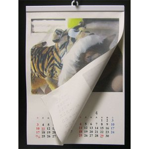 カレンダーハンガー 手作りカレンダー用ハンガーA2用紙縦用-19mm|netpetshal