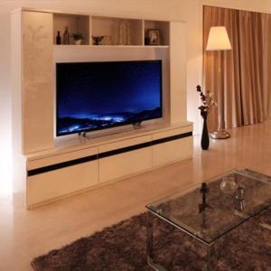 テレビボード ハイタイプ 170 テレビ台 収納 おしゃれ MODERNA モデルナ ハイタイプテレビボード 鏡面仕上げ 50インチ対応 白 黒 モダン 500024312の画像