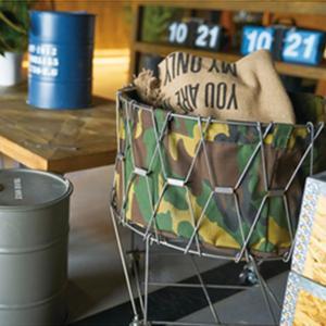 【商品について】 ワイヤーを組んで作られたおしゃれなフォールディングバスケットです。 中に小物などを...