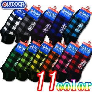 11色バッファローチェック スニーカーソックス 23-25・25-27cm2サイズより 靴下/ソックス(OUTDOOR PRODUCTS/アウトドアプロダクト)|netshop-est