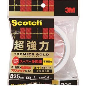 3M スコッチ超強力両面テープ プレミアゴールド スーパー多用途薄手 25mm3m SPU-25|netshop-ito