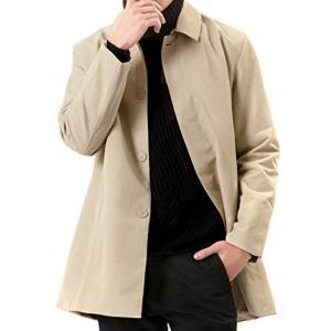 (オリマート) ORI-MART メンズ ジャケット ステンカラー コート トレンチコート ロング アウター 春秋 防風 無地 netshop-ito