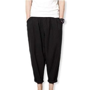 [イーグルハート] クロップド ワイド パンツ ズボン メンズ 薄手 九分丈 カジュアル EH070