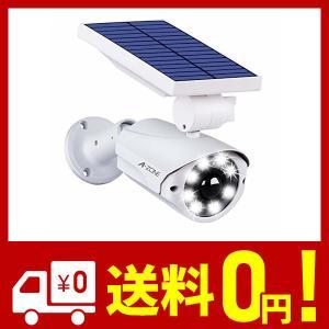 センサーライト 屋外 ソーラーライト A-ZONE 人感センサーライト 防犯カメラ型 IP66防水・防塵 省エネ 太陽光充電 配線・電源不要 ダミーカ netshop-kadoyoriya