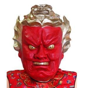 【入荷がおくれてごめんね。】ラバーマスク 仁王 お面 マスク お祭り ハロウィン コスプレ コスチューム 仮装 衣装|netshop-sakurado