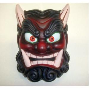 鬼面(赤) お面 マスク お祭り ハロウィン コスプレ コスチューム 仮装 衣装 プチ仮装 飾り なまはげ 鬼 オニ|netshop-sakurado