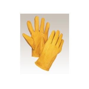大中産業 牛革手袋1双入  100Y 牛クレスト 黄 フリー(L)サイズ 用途:溶接・土木・建築・園芸作業等|netshopimpact