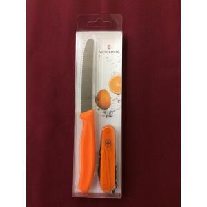 VICTORINOX 18901L9 カラーツインズ オレンジ  ビクトリノックス・マルチツール/キッチンナイフ 各色世界15,000セット限定生産|netshopimpact