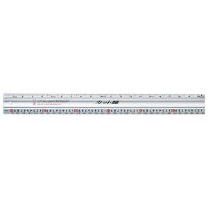 シンワ測定 アルミカッター定規 カット師 65086 60cm併用目盛(尺/cm) 長さ測定・線引き・カッティング・丸ノコガイド定規に使用|netshopimpact