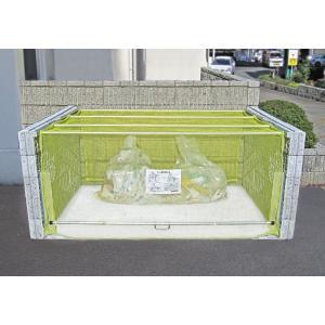 屋外 ゴミ箱 大型 組立式ゴミ収集庫 ブロック等取付専用レールタイプ 最大容量:2400L ※お客様での組立が必要です。 cka-2012|netshopimpact