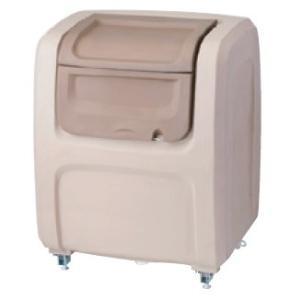 屋外 ゴミ箱 大型 完成品ゴミ収集庫 ポリ製 据置タイプ 色:グレー/ベージュ 容量500L 45Lゴミ袋約12袋分 ckdx-a50|netshopimpact