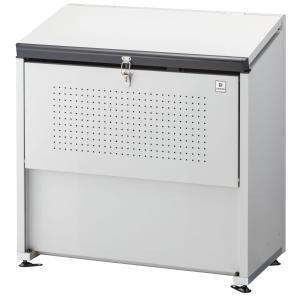 屋外 ゴミ箱 大型 組立式ゴミ収集庫 ガルバ鋼板製 容量400L 45Lゴミ袋約8袋分 ※お客様での組立が必要です。 cke-1005|netshopimpact