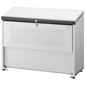 屋外 ゴミ箱 大型 組立式ゴミ収集庫 ガルバ鋼板製 容量500L 45Lゴミ袋約11袋分 ※お客様での組立が必要です。 cke-1305|netshopimpact