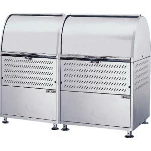屋外 ゴミ箱 大型 完成品ゴミ収集庫 ステンレス製 容量880L 45Lゴミ袋約19袋分 連結タイプ ckm-1500r|netshopimpact