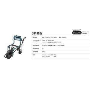 マキタ 充電式運搬車 ネコ 一輪車 本体のみ CU180DZ 18Vバッテリで可動 バッテリ・充電器別 学校や施設の運搬に便利です|netshopimpact