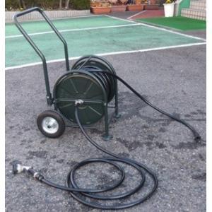 メーカー直送品 日之出化成 タイヤ付大型リール ビートル 耐圧農園ホースセット 15x20mm ホース長:60m|netshopimpact