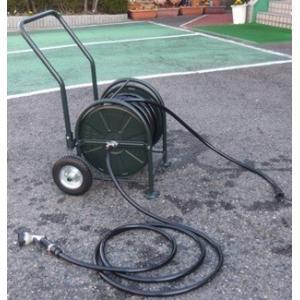 メーカー直送品 日之出化成 タイヤ付大型リール ビートル 耐圧農園ホースセット 18x23mm ホース長:50m|netshopimpact