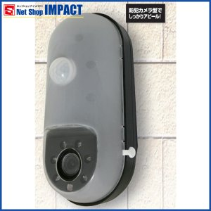 防犯カメラ 家庭用 屋内 SDカード録画式 単三電池 センサーライトカメラ SD1000|netshopimpact