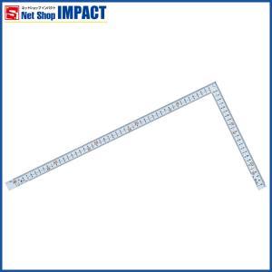 シンワ 曲尺 広ピタ シルバー 50センチ 表裏同目8段センチ目盛り 内側起点目盛 No10036|netshopimpact