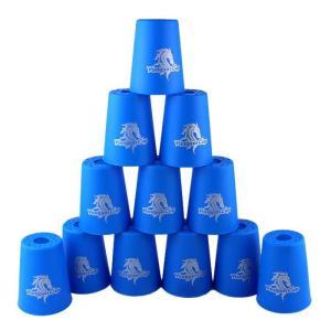 スポーツスタッキング専用 カップ 12個セット (ブルー)
