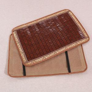 枕パッド 通気性の良い竹製 和風 ゴム付き (ブラウンA)