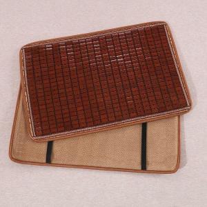 枕パッド 通気性の良い竹製 和風 ゴム付き (ブラウンB)