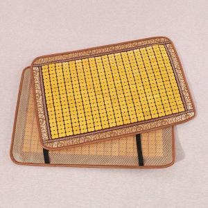 枕パッド 通気性の良い竹製 和風 ゴム付き (イエローA)