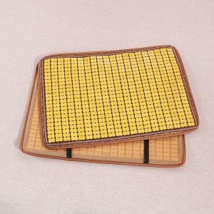 枕パッド 通気性の良い竹製 和風 ゴム付き (イエローB)