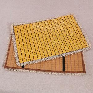 枕パッド 通気性の良い竹製 和風 ゴム付き (イエローC)