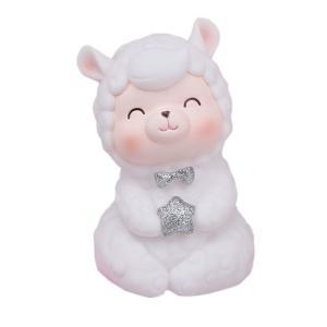 優しく微笑む羊さんがとってもキュートな貯金箱です。底にはフタがついていて、中に入れたコインを取り出せ...