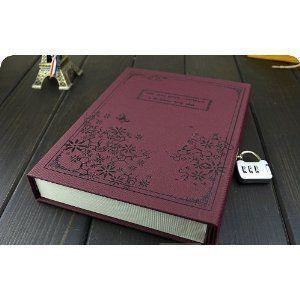 ノート 日記帳 中世ヨーロッパ貴族風 鍵付き (ワインレッド)|neustadt