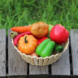 食品サンプル どっさりお野菜 タマゴ 12種類セット 竹カゴ入り|neustadt|03