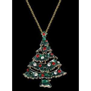 2wayアクセサリー ブローチ ネックレス クリスマスツリー チェーン付き|neustadt