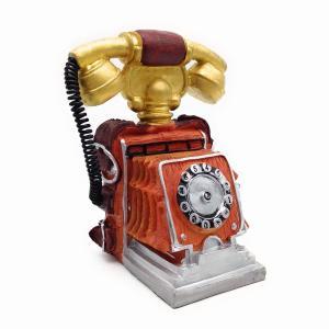 素敵なアンティーク風のレトロ電話機モチーフオブジェです。 レトロな雰囲気やノスタルジックな色合いもと...