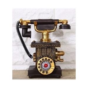 素敵なアンティーク風の手回し電話機モチーフオブジェです。 レトロな雰囲気やノスタルジックな色合いもと...