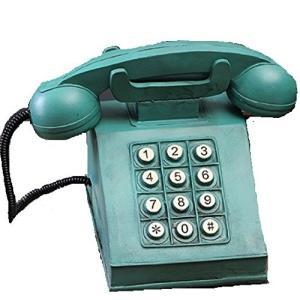 ビンテージ風のとってもオシャレなオブジェす。 貯金箱としてもお使い頂けます。 レトロなグリーンの電話...