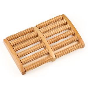 疲れた足に心地よい木製のフットマッサージャーです。 程よい凹凸感でコロコロと足を動かすだけでマッサー...